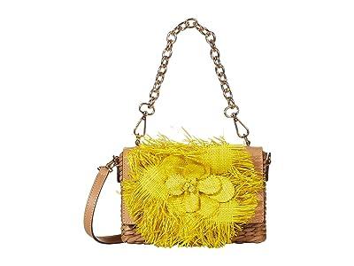 Frances Valentine Chick Raffia Bag (Yellow) Clutch Handbags