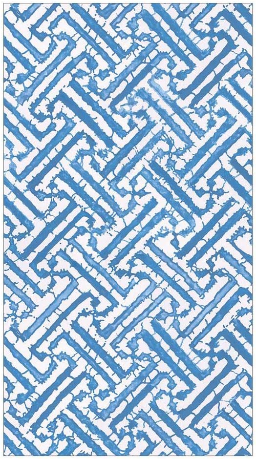 Caspari It is very popular Fretwork Paper Guest Towel Napkins Two Packs New popularity in Blue o -