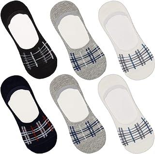 DOUBLE M, 6 Pares de Calcetines Tobillero Pinkis para Hombre Mujer, Calcetines de Vestir, de Algodón, Calcetines Suaves, T...