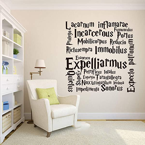 Wall Decal Sticker Art Mural Home Decor Quote Kids Room Hogwarts Movie Spells For Living Room Bedroom