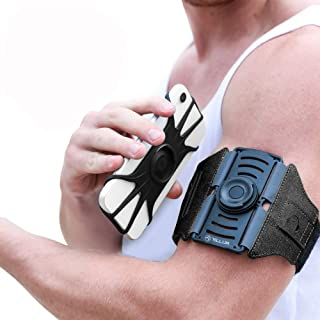 """TELLUR Neopren & Lycra, Adjustable Sports Armband 360° Rotation Against Sweat, Up to 6.5"""", Stretchable and Washable, Black photo"""