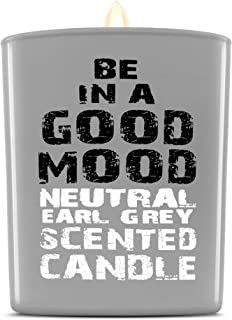 Be in a Good Mood Aromatherapy Candles | Premium Scented Candles | Each Candle Set is Crafted with Perfection - Candle Jars, Hand Poured with Non-Toxic Mineral Wax & Cotton Wick (Earl Grey)