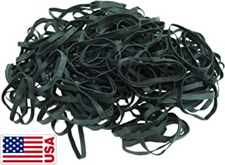 Black High Heat UV Resistant #64 Platinum Crepe Rubber Band Made in USA (3 1/2