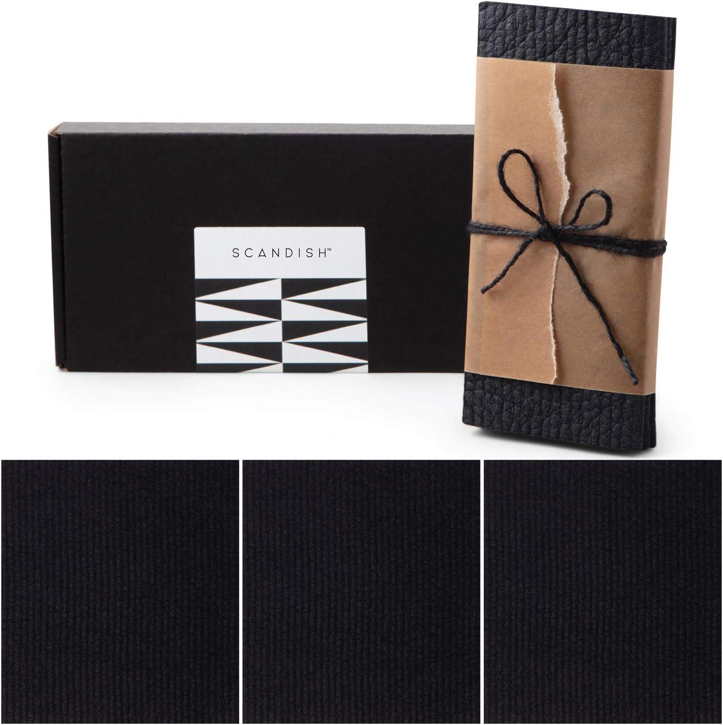 SCANDISH - Ranking TOP12 Black Swedish Dishcloths for Kitchen Gift 3 Set New product type of