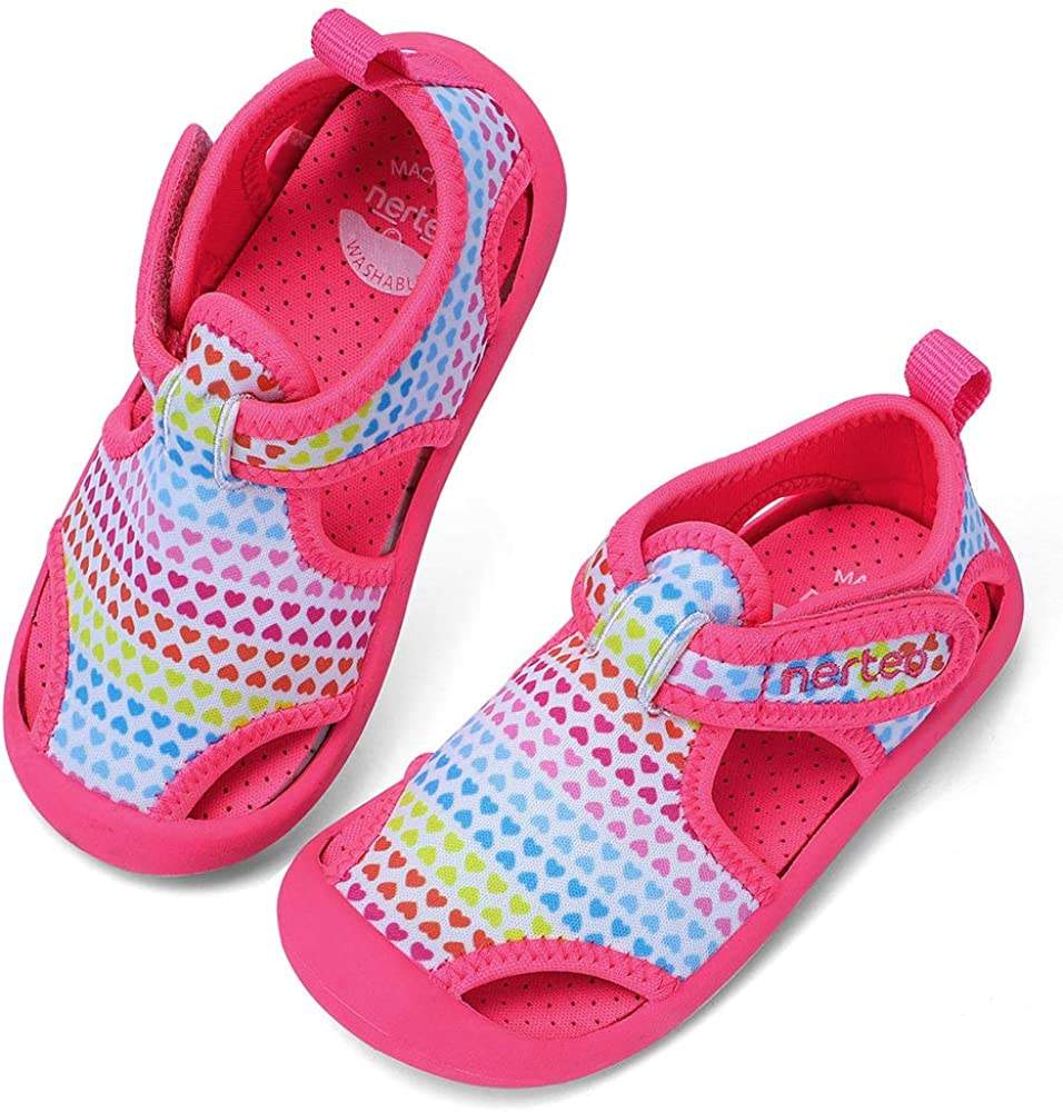 RANLY SMILY nerteo Kids from Pool Play Toddler Luxury Sandals to Oakland Mall Wa