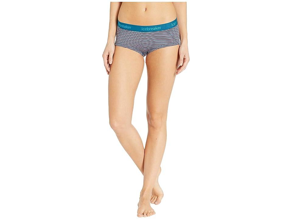 Icebreaker Sprite Hot Pant (Velvet/Dew/Stripe) Women