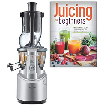 Breville BJS700SIL The Big Squeeze Slow Juicer Bundle with Juicing for Beginners Recipe Book: The Essential Guide to Juicing Recipes and Juicing for
