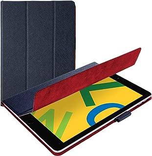 エレコム iPad 10.2 (2019) ケース フラップケース イタリア製高級ソフトレザー 2アングル 薄型 ネイビー TB-A19RWDTNV