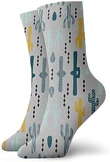 ASE, Cactus mostaza menta azul marino mujer hombre divertidos lindos calcetines de compresión hombres calcetines para calcetines atléticos regalo