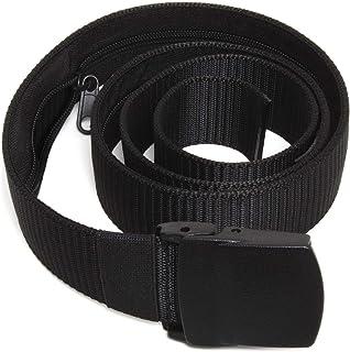 U6889 Cinturon de Dinero Cinturon de Viaje Antirrobo - Nylon y Plástico, Viajes, Vuelos - Negro