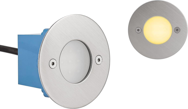 LED Treppenleuchte Wandleuchte Janus RUND - IP54-3.000 6.500 Kelvin 1-10 Stück (7 x Warmweiss)