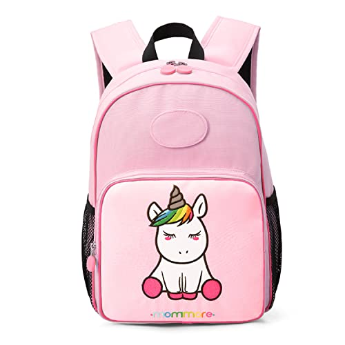 d0dec22f746e mommore Unicorn School Bags for Girls Toddler Backpack for 3-7 Kids with  DIY Name