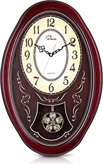 "WallarGe Pendulum Wall Clock,Extra Large Westminster Chime Clocks,22"" x 14.5"".."