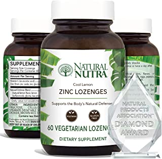 Sponsored Ad - Natural Nutra Zinc Lozenges with Vitamin C, Lemon Flavor, Immune Support and Sore Throat Relief, Fortified ...