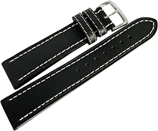 Di-Modell Jumbo 20mm Black Leather Watch Strap