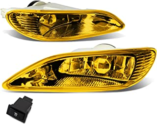 Pair of Amber Lens Bumper Driving Fog Lights + Wiring Kit + Switch for Toyota Camry 02-04 Corolla 05-08 Solara 02-03