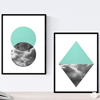 Nacnic Set de 2 láminas para enmarcar Reflejo Posters