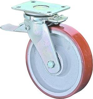 BS wielen RRR120.C10.125 wieltje, zwenkwiel met vastzetter, Ø 125 mm, montageplaat, polyurethaanwiel, gietwiel