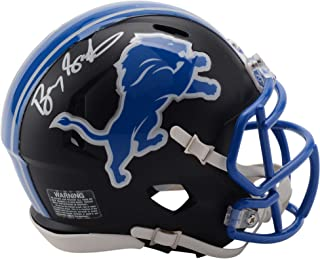 Barry Sanders Detroit Lions Autographed Riddell Black Matte Alternate Speed Mini Helmet - Fanatics Authentic Certified