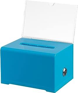 AdirOffice Acrylic Donation & Ballot Box With Lock (6.25
