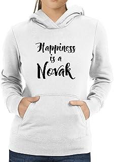 Eddany Happiness is a Novak Women Hoodie