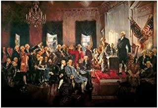 Howard Chandler Christy Scene at The Signing of The Constitution Art Poster 36x24