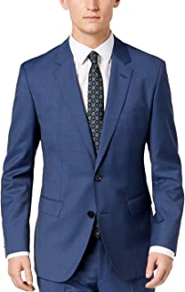 Men's Blazers Professional Modern Fit Comfort Jacket 100% Wool Two Button Side Vents Sport Coats by Hugo