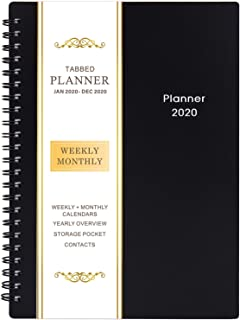 2020 Planner - Weekly & Monthly Planner, Flexible Cover, 12 Monthly Tabs, 21 Notes Pages, 6.25