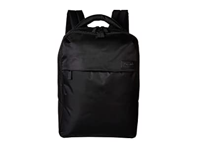 Lipault Paris Plume Business Laptop Backpack M (Black) Backpack Bags