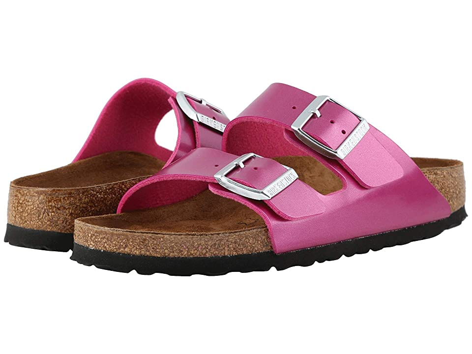 a2a9b07a575f Birkenstock Arizona Birko-Flortm (Electric Metallic Magenta) Women s Sandals