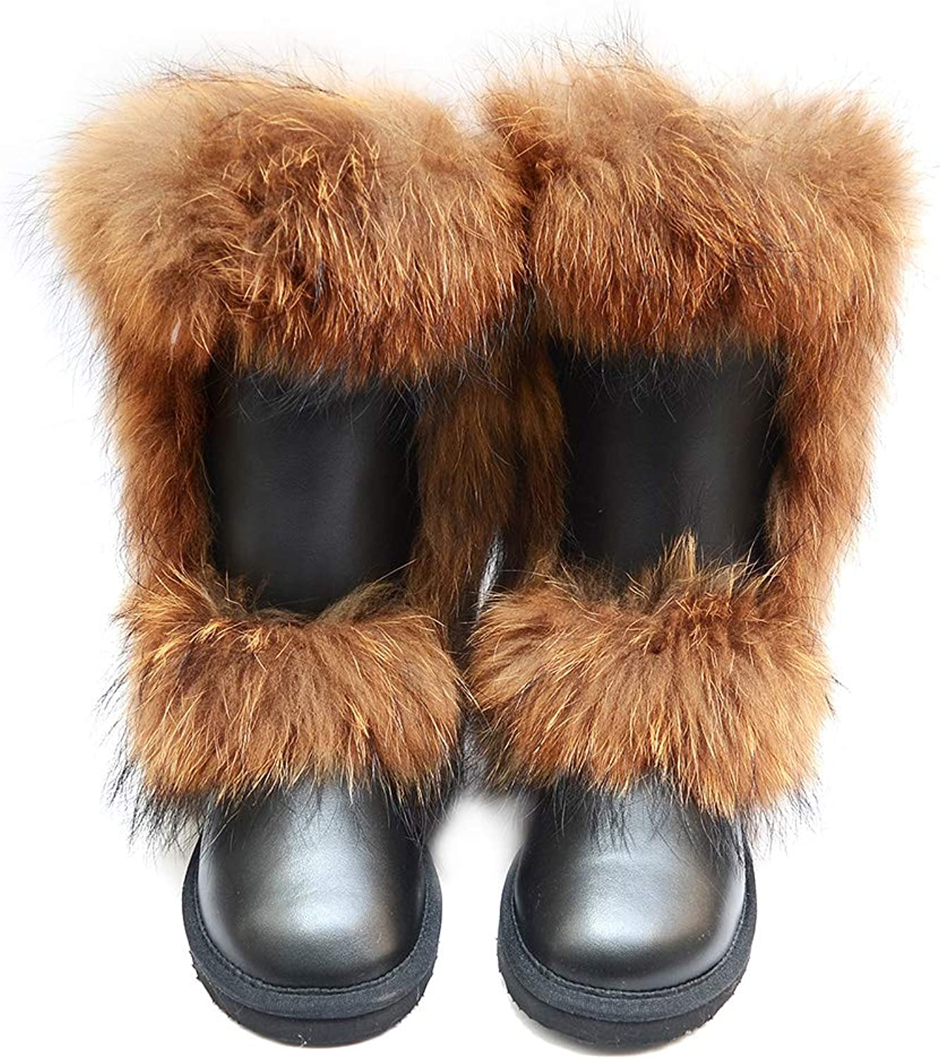 INOE Fox Fur Women High Winter Snow Boots