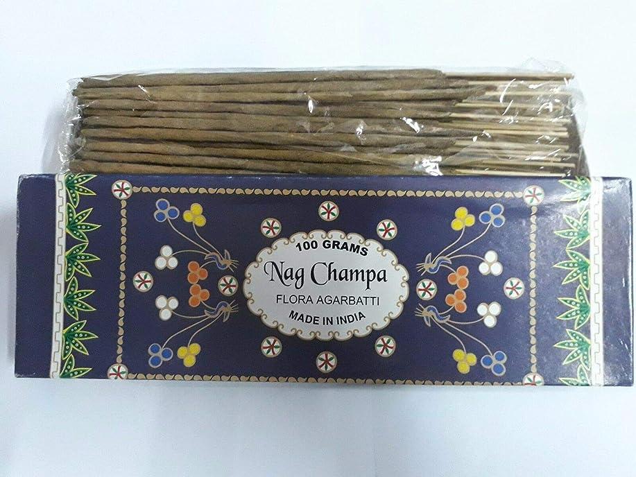 動かない散文制裁Nag Champa ナグチャンパ Agarbatti Incense Sticks 線香 100 grams Flora Agarbatti フローラ線香