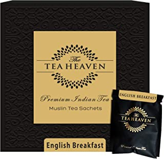 Sponsored Ad - The Tea Heaven 30 Muslin Tea Bags (2 samples) English Breakfast Black Tea | India's Original FResh Whole Le...
