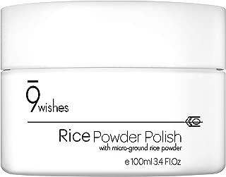 9 wishes Rice Powder Polish 100 ml, 3.38 Fl. OZ.