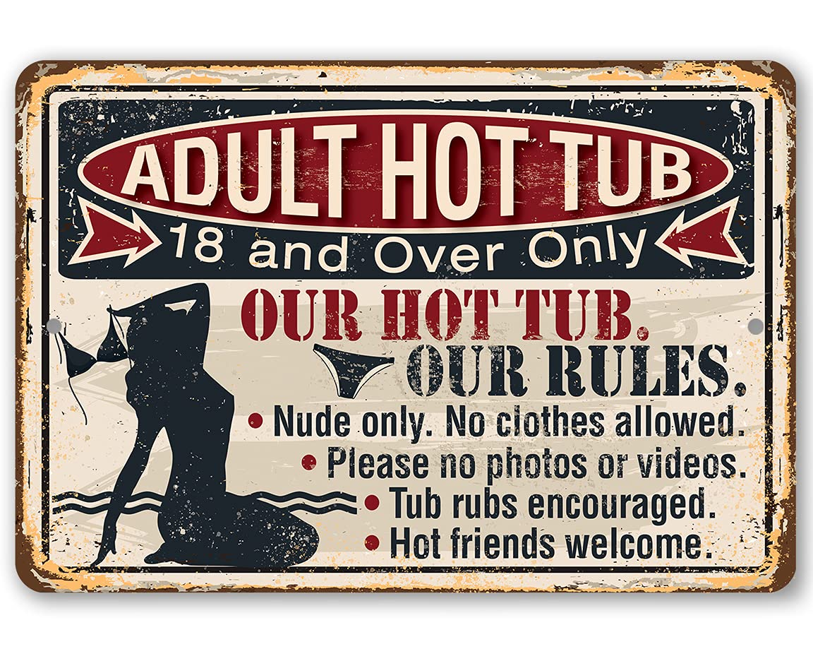 Metal Sign - Philadelphia Mall Adult Directly managed store Hot Out Use Tub Durable Indoor