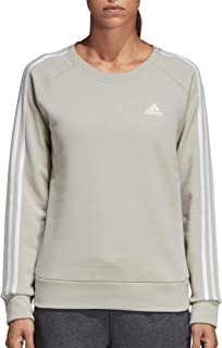 adidas Women's Essentials 3-Stripes Crewneck Sweatshirt (S, Ash Silver)