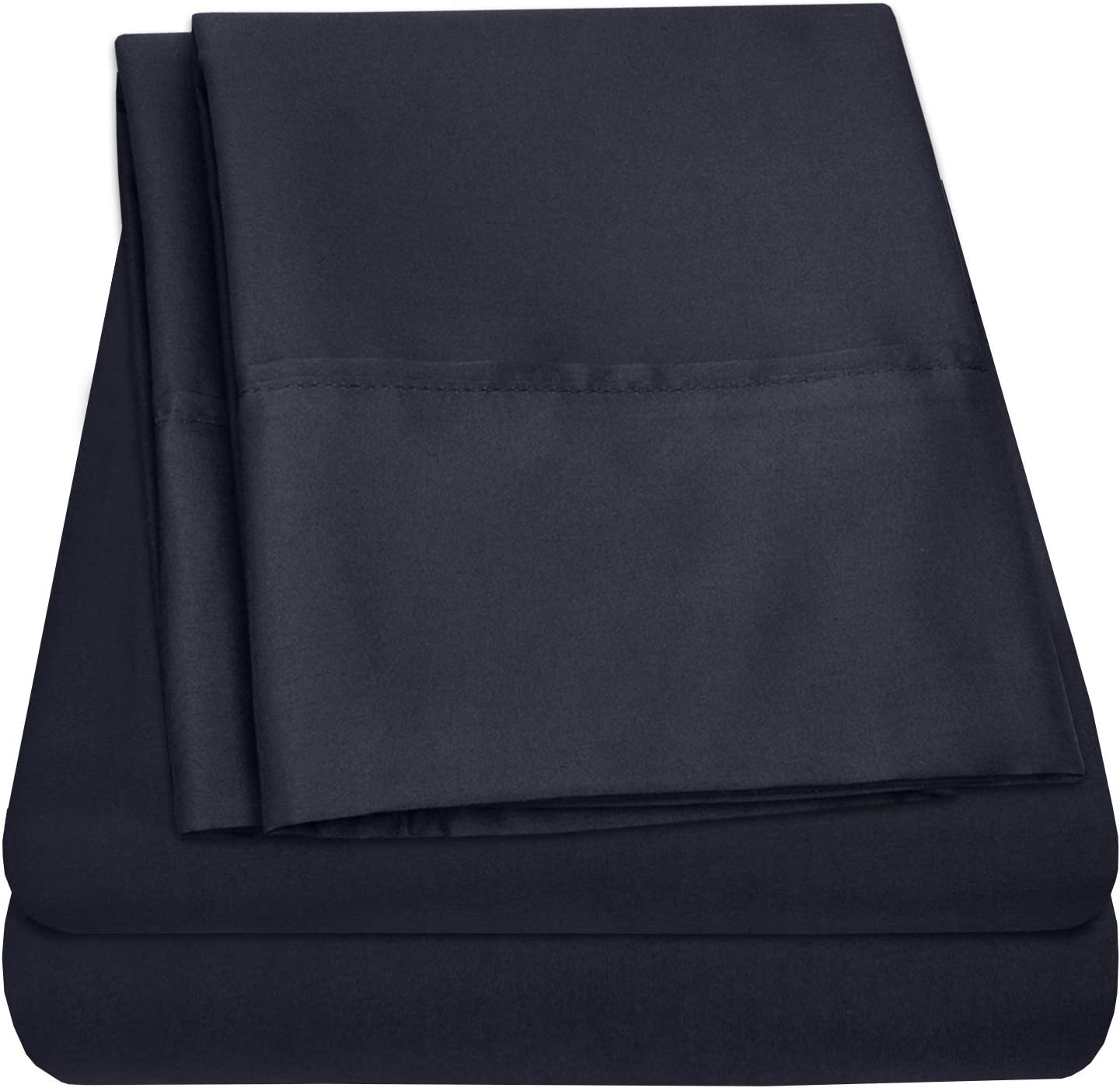 Premium Cotton Percale Bed Sheets - 100% Pure Cotton Egyptian Sheet Set- Made in Egypt - Extremely Soft Sheeting, Deep Pocket, Refreshingly Cool, Everlasting Comfort Bed Sheets - King, Navy