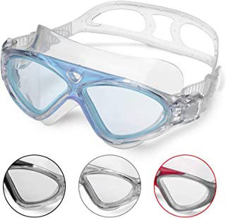 Swimming Goggles,Adult Swim Goggles Anti Fog No Leakage Clear Vision UV Protection Anti Slip Easy to Adjust Comfortable Si...