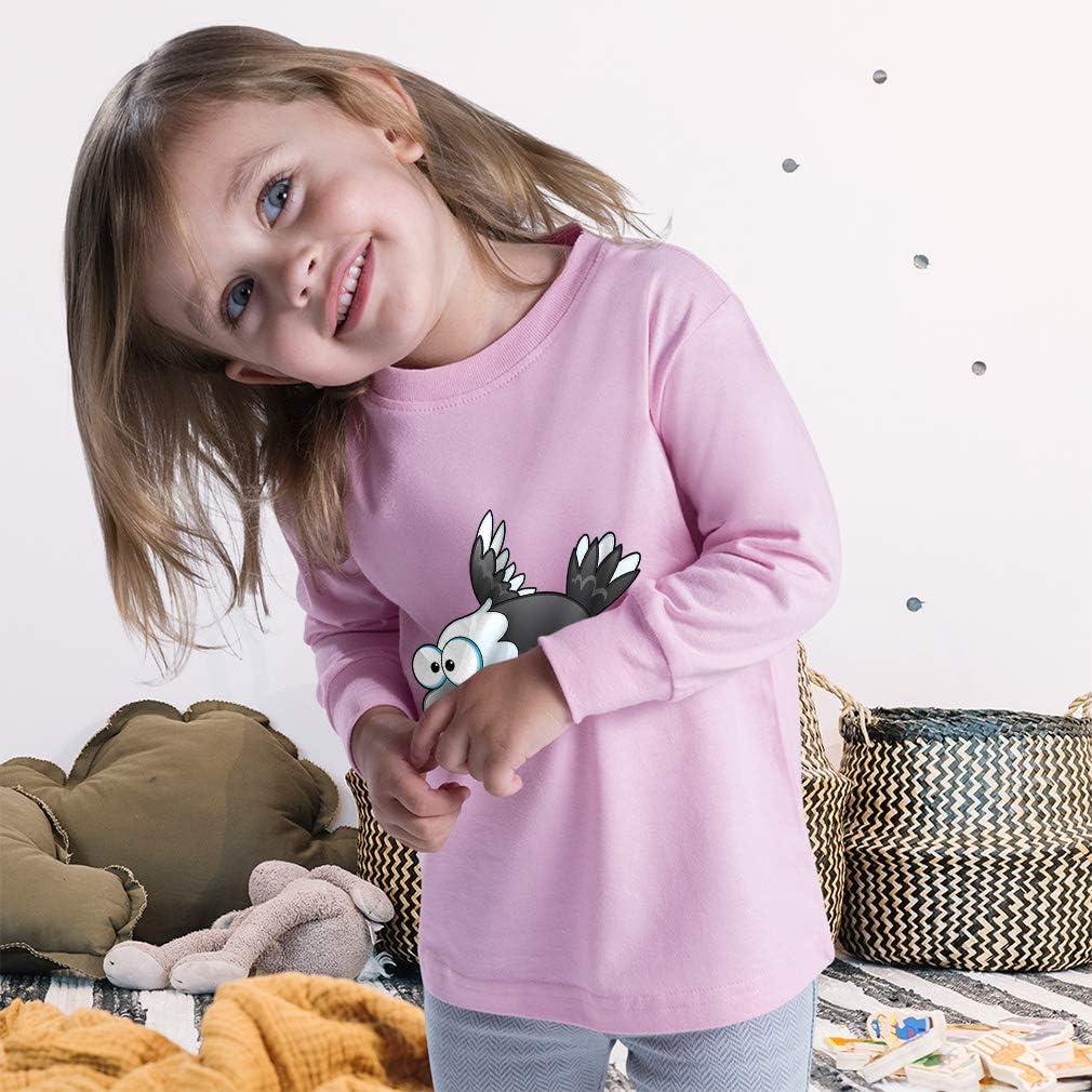 Kids Long Sleeve T Shirt Eagle Grey American Patriot Cotton Boy & Girl Clothes