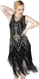 PrettyGuide Women's 1920s Flapper Dress Vintage Swing Fringed Gatsby Roaring 20s Dress
