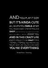 Póster de Michael Buble con texto en inglés