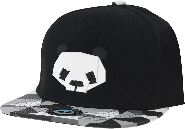WITHMOONS Snapback Hat Panda Bear Paper Fold Patch Geometry Pattern Flat Brim Cotton Baseball Cap TR2935