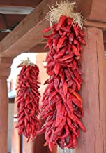 LAMINATED 24x34 inches POSTER: New Mexico Albuquerque Tourism Tradition Ethnic Chile Ristra Chili Ristra Red Decorations Holiday Decorative New Mexican Food Cooking Spice Southwestern Food