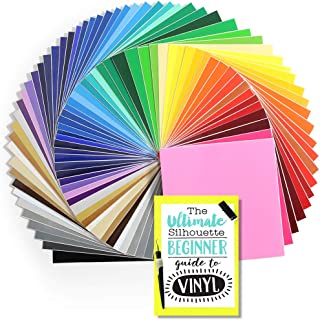 61 Sheets of Genuine Oracal 651 Glossy Permanent Vinyl Every Color Available- 12 Inch x 12 Inch with Vinyl Guide
