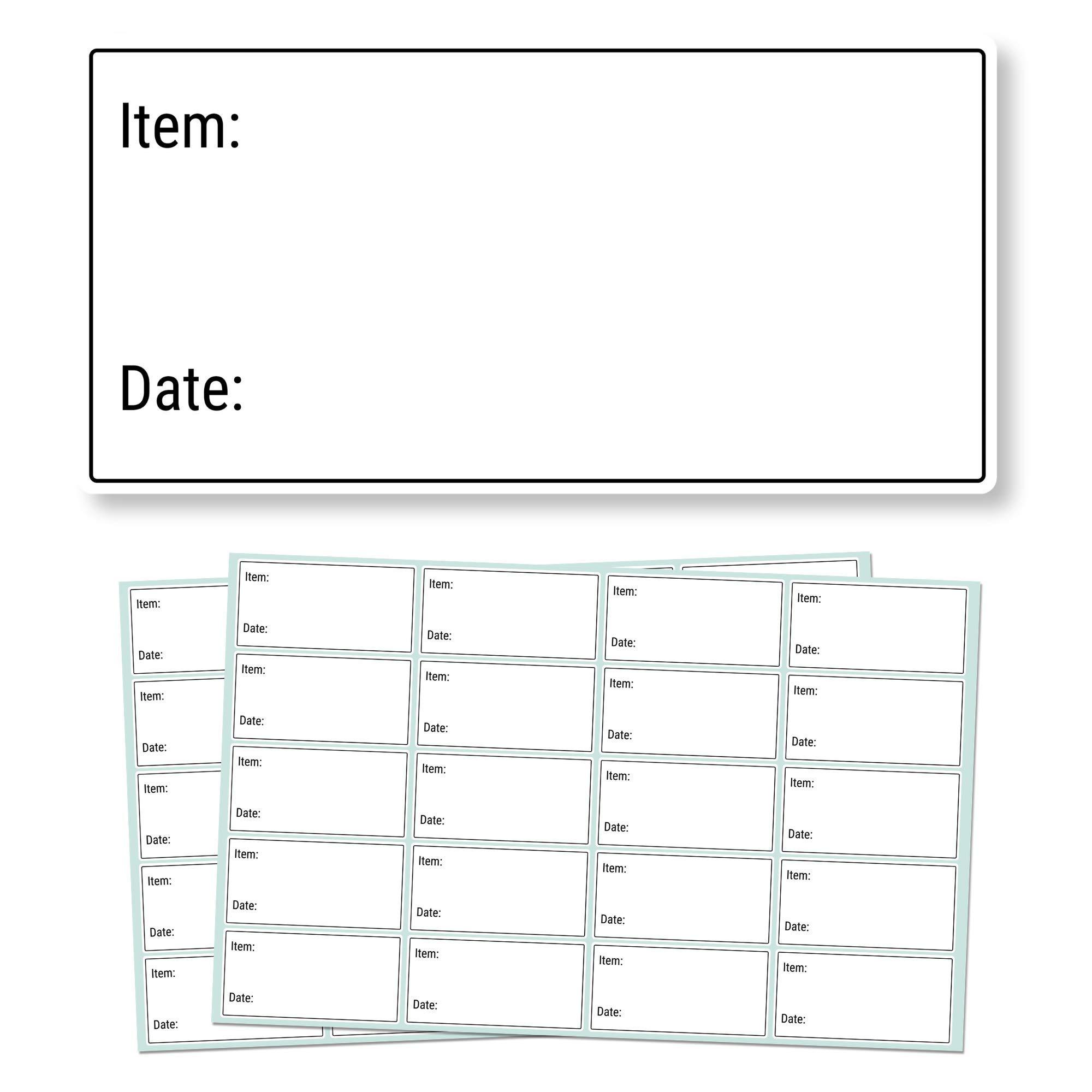 5 x 2,5cm, 500 piezas, Etiquetas Removibles Congelador Alimentos ...
