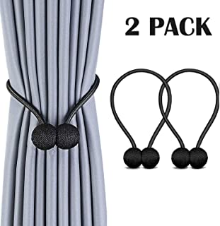 HEIGE Magnetic Curtain Tie Backs Curtain Holdbacks Decorative Magnet Window Hold Curtains Drape Tie Backs for Bedroom Kitchen Office 2 Pack