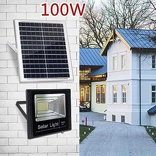 LAMP-XUE 100W Outdoor LED zonnelicht straatveiligheid IP67 waterdicht wit 6500K 179 LEDs auto on/off-schemering met afstandsbediening voor buiten Roads Yard tuin