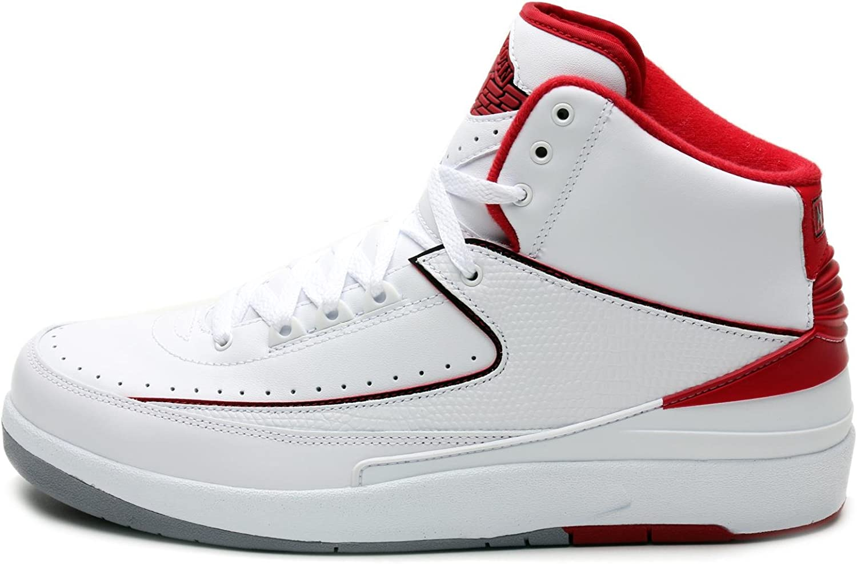 asistente Selección conjunta doble  Amazon.com | NIKE Mens Air Jordan 2 Retro OG Colorway White/Black-Varsity  Red-Cement Grey Leather Basketball Shoes Size 11.5 | Basketball