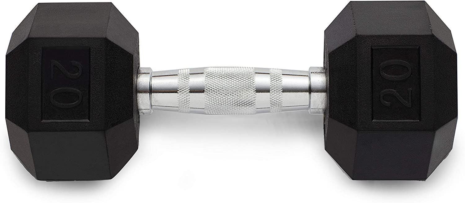 Weider's Rubber Hex Compact Dumbbell Size Max 78% OFF Single 20lbs 100% quality warranty