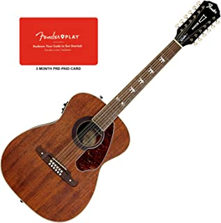 Fender Tim Armstrong Hellcat 12-String Acoustic Guitar Bundle w/Fender Play 3-Mo